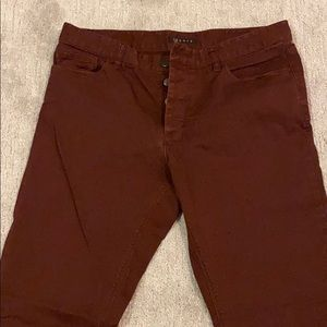 Theory Burgundy cotton jeans size 33